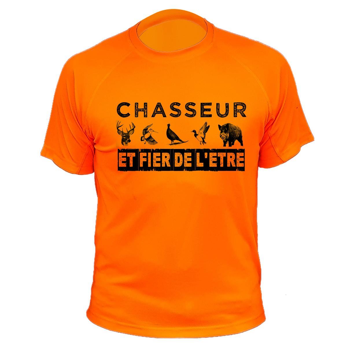 4f14fa940129d Tee shirt de chasse chasseur et fier de l'être - Traqueur