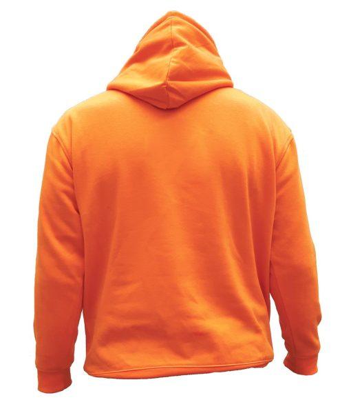 sweat chasse capuche orange