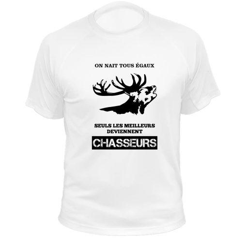 cadeau original pour chasseur tee-shirt blanc cerf