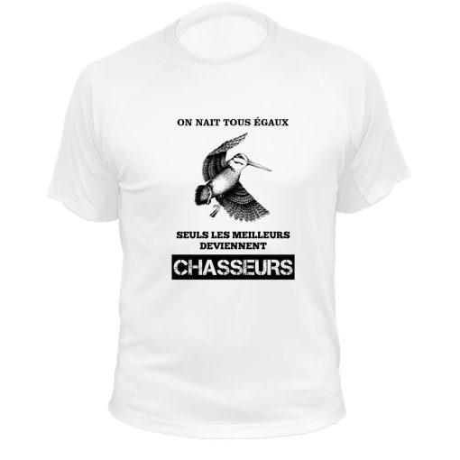 tee-shirt blanc original pour chasseur
