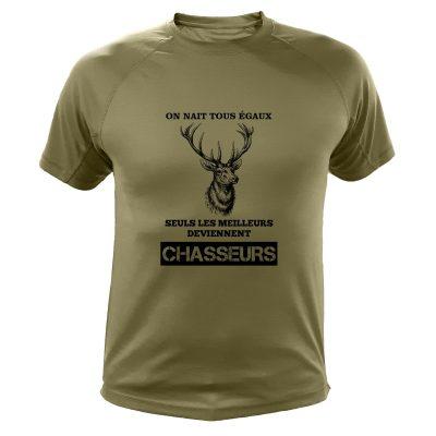 t-shirt kaki pour chasseur cerf cadeau humoristique