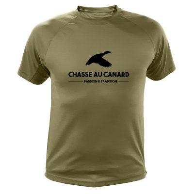 t-shirt de chasse kaki canard cadeau anniversaire