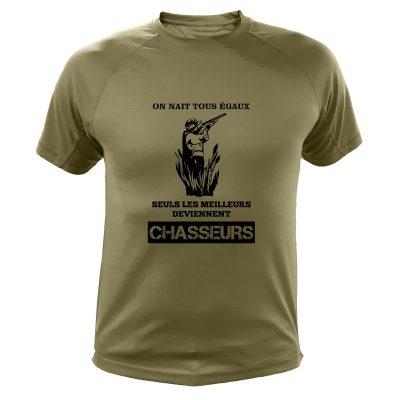 tee shirt humoristique chasseur kaki
