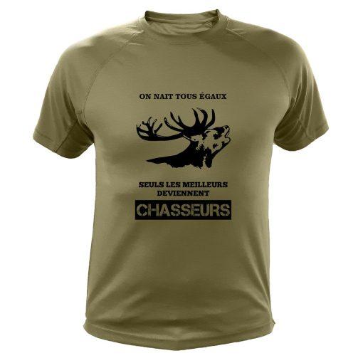 tee shirt chasse kaki carf cadeau original