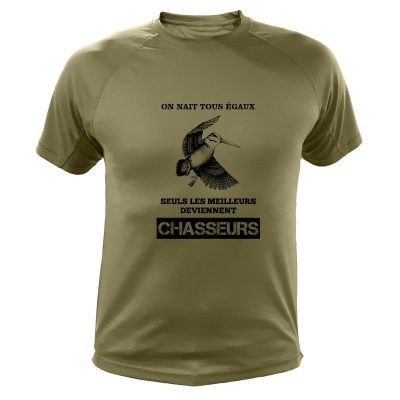 idée cadeau pour chasseur, tee-shirt, bécase
