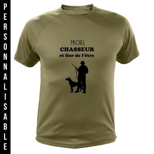vêtement de chasse personnalisable, cadeau humoristique pour chasseur, vert
