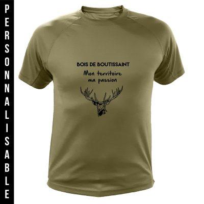 vêtement de chasse personnalisable, cadeau humoristique pour chasseur, vert, cerf