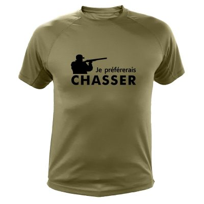 tee-shirt kaki humour cadeau chasseur
