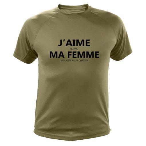cadeau de noël original pour chasseur, t-shirt kaki