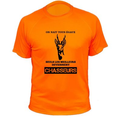 tee-shirt de chasse orange fluo cadeau original