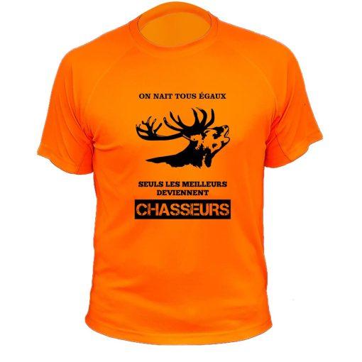 article de chasse orange fluo cerf cadeau pour chasseur