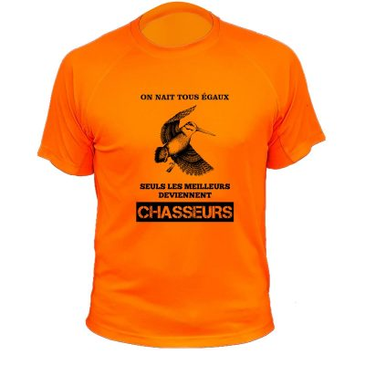 tee-shirt orange fluo cadeau original chasseur
