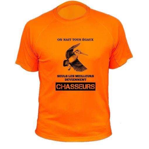 tee-shirt orange fluo cadeau original chasseur