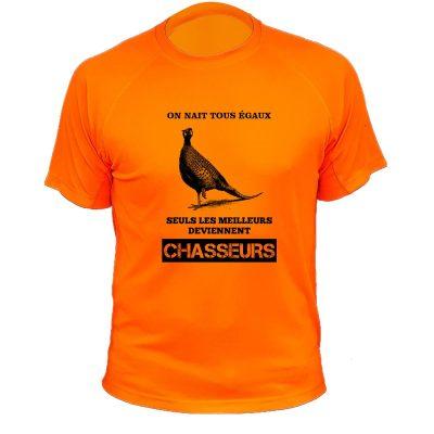 habit de chasse humoristique orange fluo perdrix