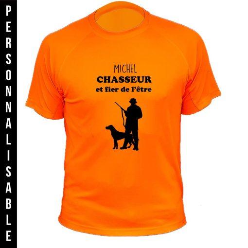 habit de chasse personnalisable et humoristique orange fluo