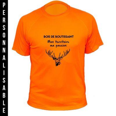 habit de chasse personnalisable ethumoristique orange fluo cerf