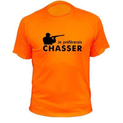 tee-shirt de chasse orange fluo cadeau fêtes des pères