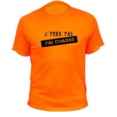 cadeau humoristique pour chasseur, tee-shirt orange fluo