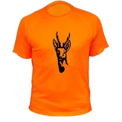idée cadeau de Noël pour chasseur, tee-shirt orange fluo