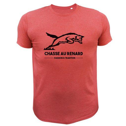t-shirt rouge cadeau fête des pères renard