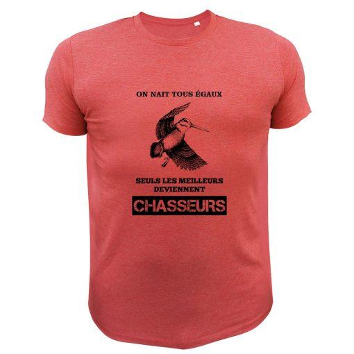 idée cadeau pour un papa chasseur tee-shirt rouge