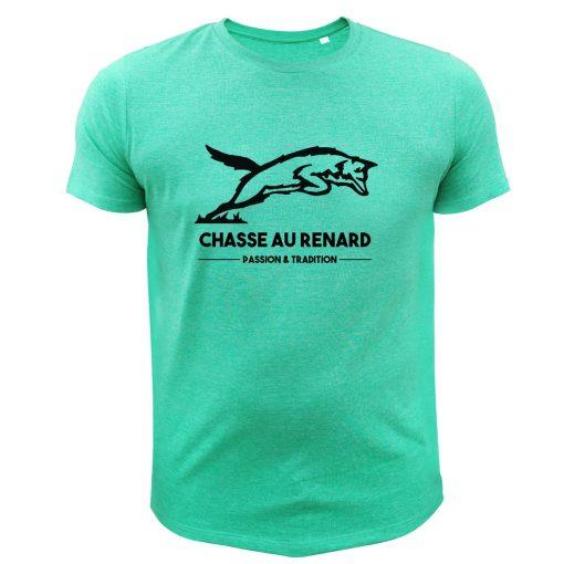 tee-shirt homme chasseur cadeau noël renard vert