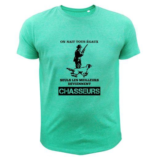 cadeau fête des pères tee-shirt de chasse vert