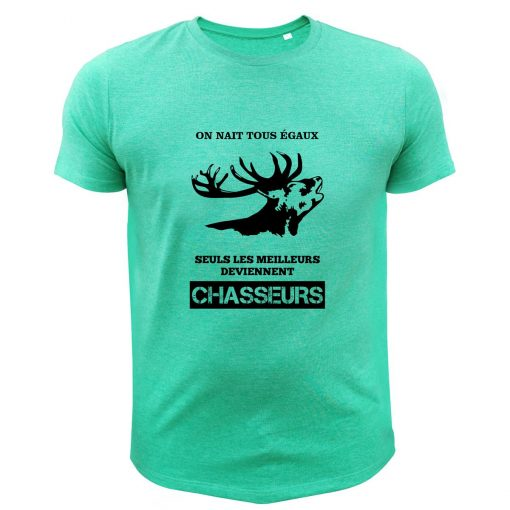 cadeau pour un chasseur tee-shirt vert cerf