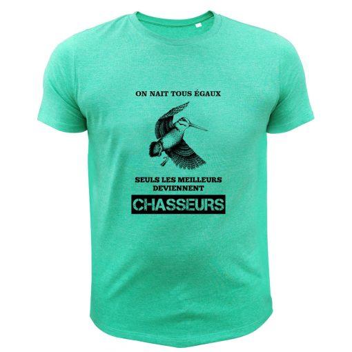 t-shirt de chasse humoristique vert