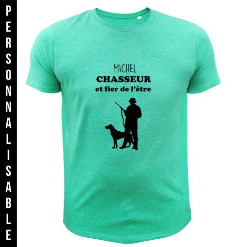 t-shirt personnalisable original pour chasseur, vert