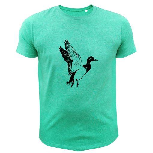 cadeau pour papa chasseur, tee-shirt vert avec canard