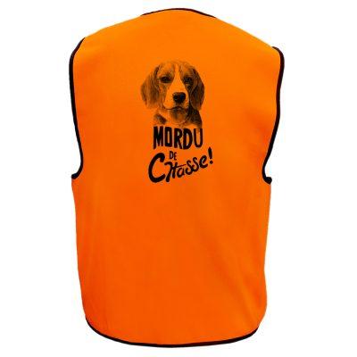 gilet de chasse fluo cadeau beagle