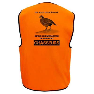 gilet chasse orange perdrix