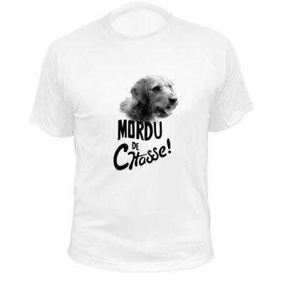 cadeau anniversaire homme chasseur, t-shirt blanc