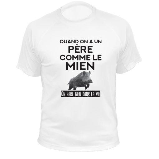 Cadeau Noël pour chasseur, t-shirt blanc