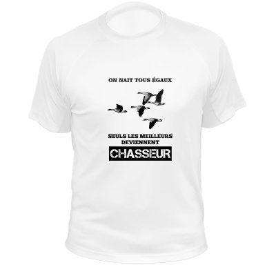 t-shirt de chasse, cadeau anniversaire, oie rieuse