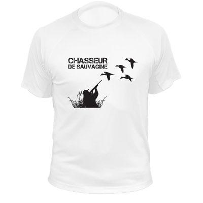 cadeau original pour chasseur, t-shirt humoristique sauvaginier