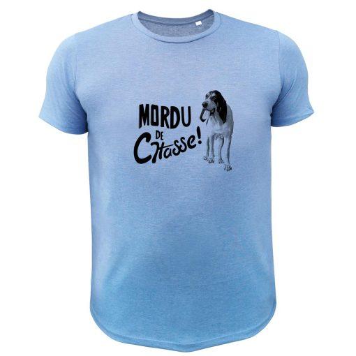 tee-shirt de chasse humoristique bleu, gascon saintongeois