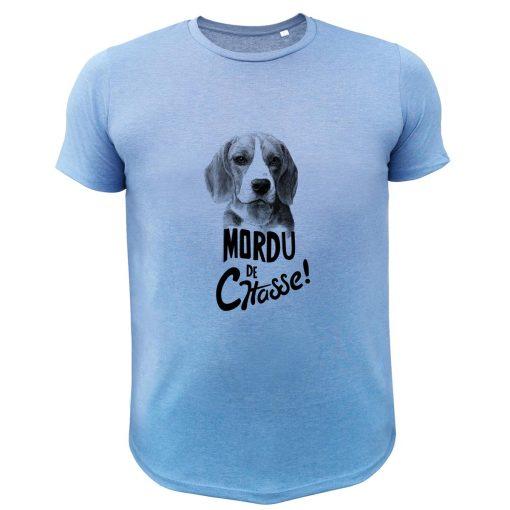 boutique de chasse, t-shirt original bleu