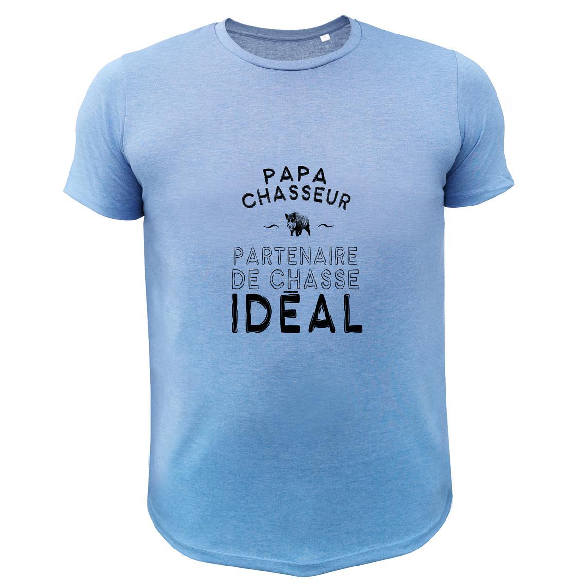 Tee Shirt De Chasse Papa Chasseur Partenaire De Chasse Ideal Veste Gilet Teeshirt Et Cadeau De Chasse Traqueur