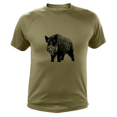 idée cadeau pour homme chasseur t-shirt sanglier