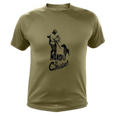 boutique de chasse, tee-shirt kaki