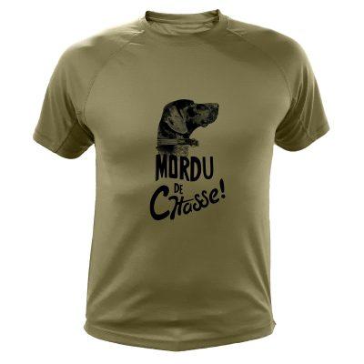 cadeau anniversaire homme chasseur, t-shirt kaki, braque