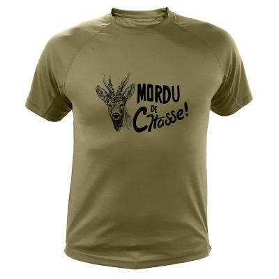 boutique de chasse, t-shirt original kaki, cerf