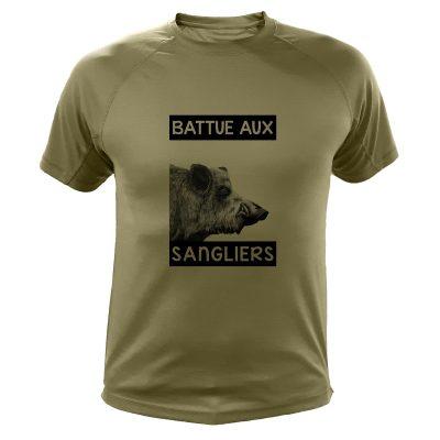 cadeau d'anniversaire pour un chasseur, t-shirt humour sanglier