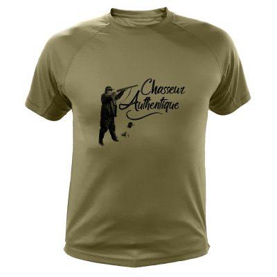 idée cadeau original pour un chasseur, t-shirt kaki