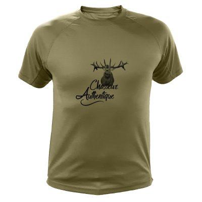 cadeau fête des pères pour un chasseur, t-shirt humoristique cerf