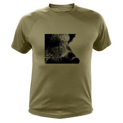 t-shirt sanglier, cadeau pour chasseur