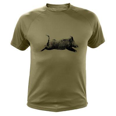 cadeau anniversaire chasseur, t-shirt sanglier
