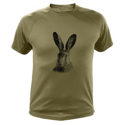 cadeau anniversaire chasseur, t-shirt lapin